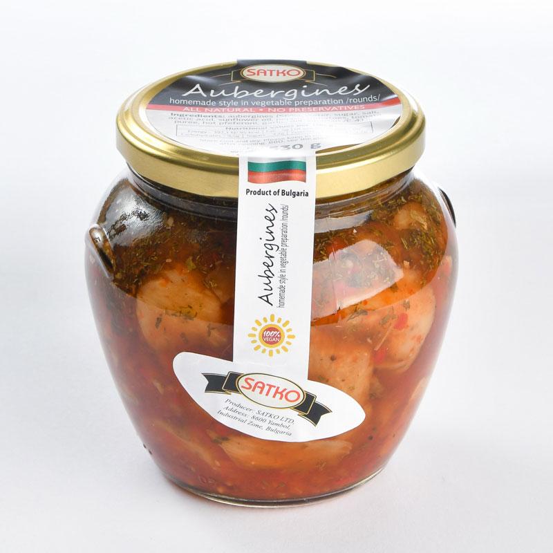 """Fried eggplant homemade style in sweet-piquant sauce """"Adjika"""""""