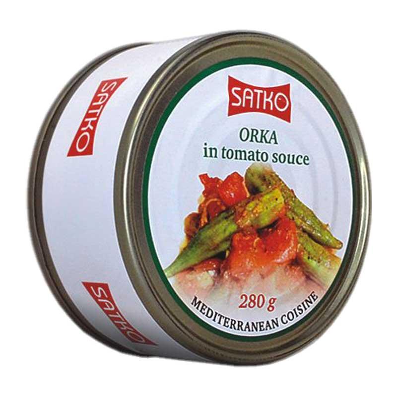 Gombos en sauce de tomates 280g